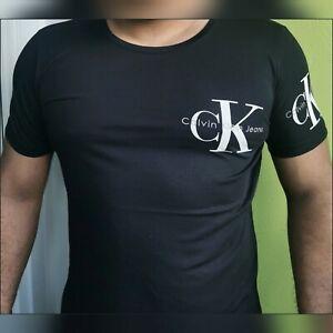 Calvin Klein Herren T-Shirt Schwarz Slim-Fit Black