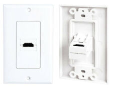 New Pyle Phdmiw1 Single Hdmi Wall Plate 90 Degree Exit Port