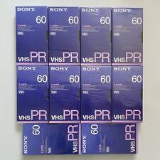 Sony T-60PR Professional High Grade VHS Video Tapes x10 NIB - free ship