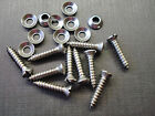 """10 Chevy Buick #8 x 3/4"""" w/#6 slotted oval stainless screws flush washers GM  photo"""
