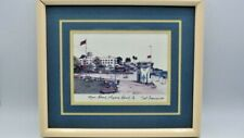 Artist Signed & Dated TED CRANE Print, Main Beach, Laguna Beach Ca. 1983 13 X 11