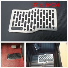 1x Car Floor Carpet Mats Patch Non-slip Heel Plate Foot Rest Pedal Pad Stainless