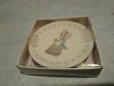 1988 cr Precious Moments December Collectors Plate with Stand in Original Box