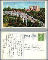 CALIFORNIA Postcard -Pasadena, Colorado Street Bridge, Hotel Vista Del Arroyo A1