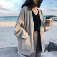 Women's Sweater Short Cardigan Faux Cashmere Open Jacket Fall Winter Loose Fit