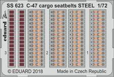 Eduard Zoom SS623 1/72 Douglas C-47D Skytrain cargo seatbelts STEEL Hobby Boss