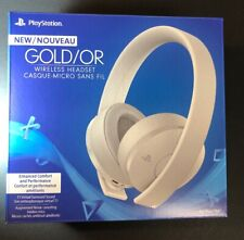 Sony PS4 New Gold Wireless Headset [ WHITE Edition ] NEW