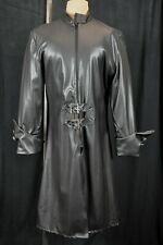 "InCharacter Costumes 45"" BLACK PVC COAT Pirate Gothic Punk COSTUME Accessory"