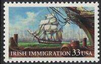 Scott 3286- Irish Immigration, Ships Docking- MNH 33c 1999- unused mint stamp