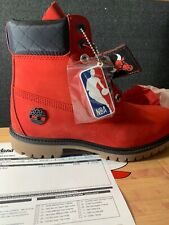 Men's Size 8 NBA Chicago bull red and black timberlands