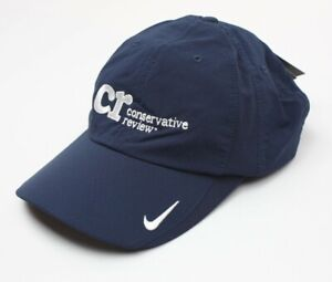 Nike Golf Conservative Review Adult Adjustable Sphere Dry Cap Hat Dri Fit Blue