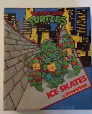 Teenage Mutant Ninja Turtles Ice Skates by Brookfield 1990 Mirage Studios NIB