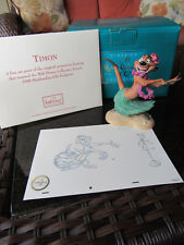 WDCC The Lion King Timon Luau Disney Figure With Box & COA & Scetch Print