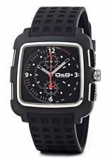 D&G Dolce & Gabbana DW0362 Square Armbanduhr Herren, Chronograph, Schwarz - Neu