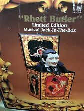 RARE ENESCO GONE WITH THE WIND RHETT BUTLER JACK IN THE BOX Music Box MINT!!!!