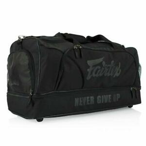 Fairtex Gym Bag Black Heavy Duty Holdall Muay Thai Boxing