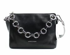 Michael Kors $368 NWT Black Leather Convertible Gianna Zip Crossbody Purse Bag