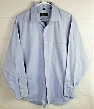 Donald J Trump Signature Collection Size 17 Blue Long Sleeve Dress Shirt