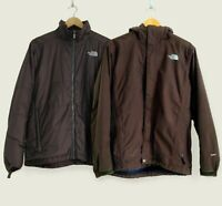 The North Face HyVent 3in1 Hooded Jacket. Sz M. Brown. Vintage Winter Coat.
