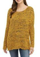 Wonderly Womens Spicy Mustard Sweater NWT Eyelash Pullover Oversized XS / Small