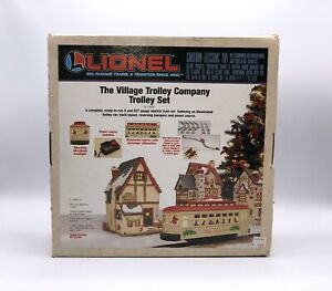 Lionel O27 Gauge Village Christmas Holiday Motorized Trolly Company Set 6-11809