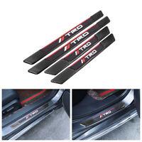 4PCS Black Rubber Car Door Scuff Sill Cover Panel Step Protector For Maserati