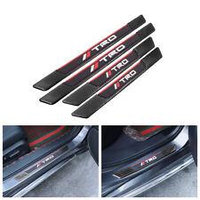 4PCS Carbon Fiber Car Door Scuff Sill Cover Panel Step Protector For TRD