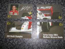 4 F1 ET Phonecards Formula One Ayrton Senna 1991 Champion Marlboro McLaren L/E