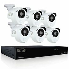 New Night Owl's 8 Channel Smart Detection Security System with 6 x 1080p Wired