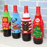 Merry Christmas Wine Beer Bottle Bag Cover Santa Elk Gift Party Table Decor fhe