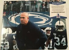 JAMES FRANKLIN SIGNED PENN STATE NITTANY LIONS 8x10 PHOTO BECKETT BAS COA D32870
