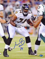 Michael Oher SIGNED 11x14 Photo The Blind Side RookieGraph PSA/DNA AUTOGRAPHED