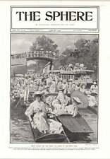 1905 F Matania Ascot Sunday On The River