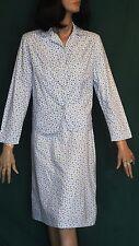 Vintage Blue Floral & Butterfly Two Piece Cotton Suit B38