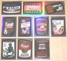Wacky Packages ANS6 series 6 foil SET of 10