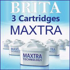 Maxtra + x3 Brita Replacement Water Cartridges Britta Jug Filters New 3 Singles