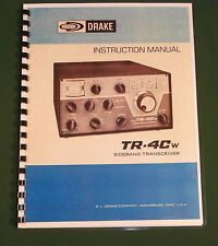 """Drake Tr-4Cw Instruction Manual: 11""""x17"""" Foldout Schematic & Protective Covers"""