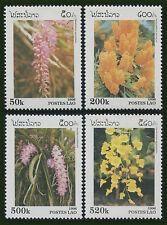 LAOS N°1233/1236**  Fleurs, orchidés, 1996  Flowers, orchids Sc#1292-1295 MNH