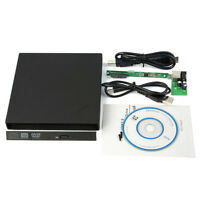 External USB2.0 Slim Case Enclosure 9.5mm SATA Laptop Tray CD DVD Drive Bur M3F4