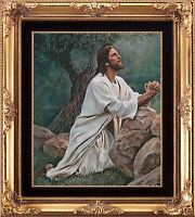 JESUS IN THE GARDEN PRAYING~COUNTED CROSS STITCH PDF PATTERN ONLY