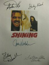 The Shining Signed Film Script Stephen King Stanley Kubrick Jack Nicholson repnt