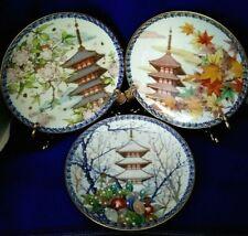 Rare Vtg 1978 Noritake Seasons Plates by Akio Kato Limited Ed. Seasons Variety