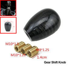Universal Carbon Fiber Manual Car Gear Shift Knob Shifter Lever Round Ball Shape