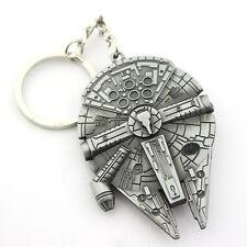 Mens Boys Metal Keyrings Movie Star Wars Spaceship Logo Pendant Key Chains Gifts