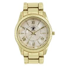 US Beverly Hills Polo Club Women's Watch Gold Tone Bracelet MOP Dial Watch