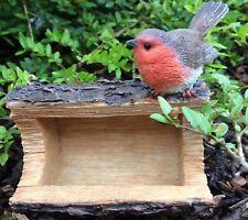 Robin Log Bird Feeder Hanging  Vivid Arts Indoor Outdoor Garden Ornament £11.99