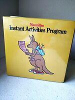 Macmillan Instant Activities Program 4 Binder Homeschool Curriculum Teacher Idea
