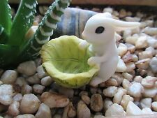 Miniature Bunny with Cabbage Planter for Terrarium, Miniature or 