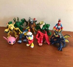 Vintage Bandai Digimon toy figure bundle lot x 10 Metalgarurumon Flamedramon etc