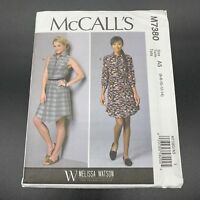 McCalls Sewing Pattern #M7380 Misses Collared Shirtdress in Sizes 6-14 Uncut